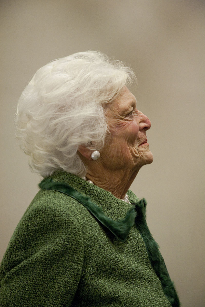 800px-Barbara_Bush_at_LBJ_Presidential_Library